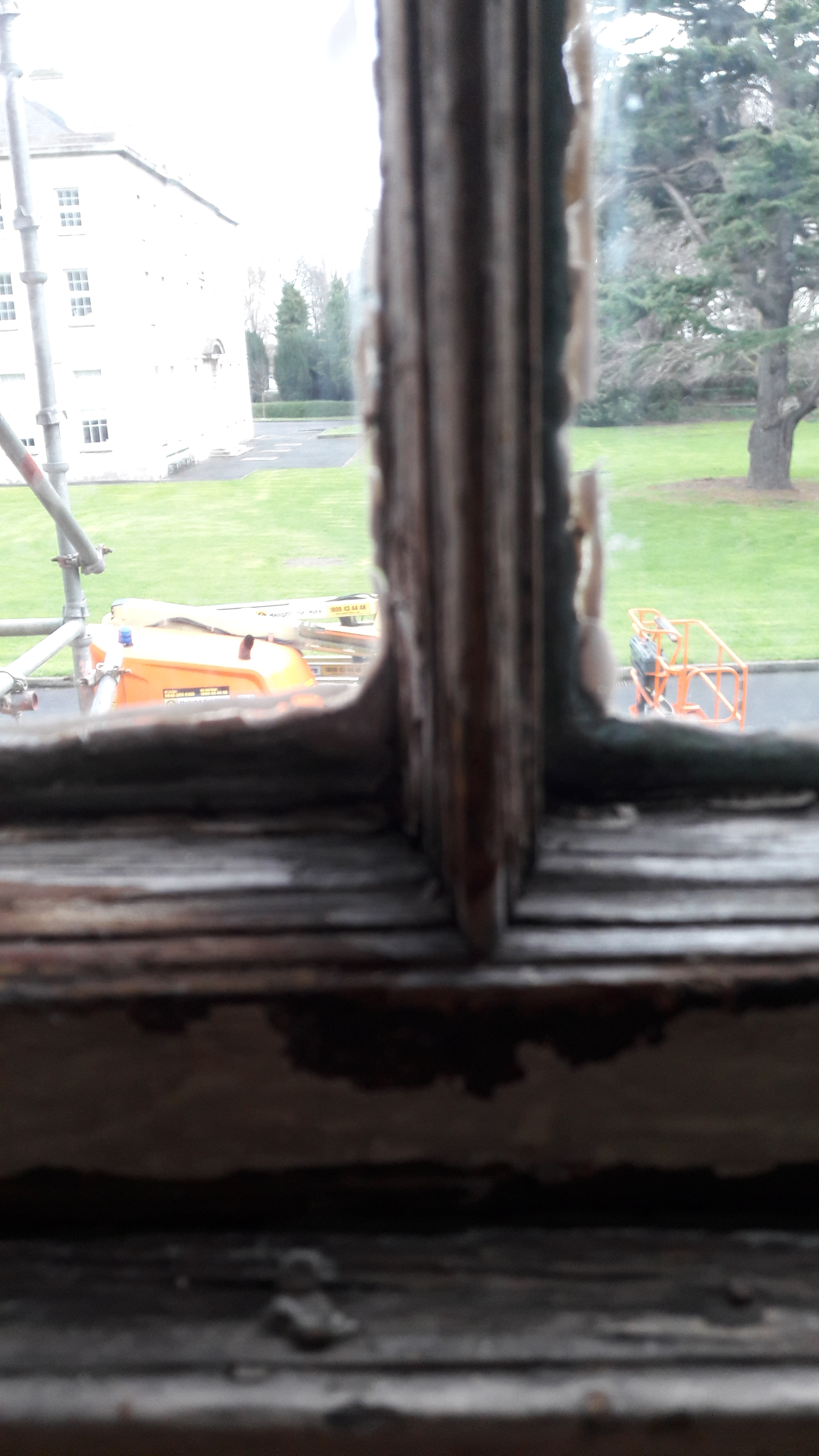 Before Restoration - putty line on glazing bars
